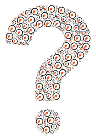 Question figure composed with insemination icons. Vector insemination icons are combined into inquire illustration.