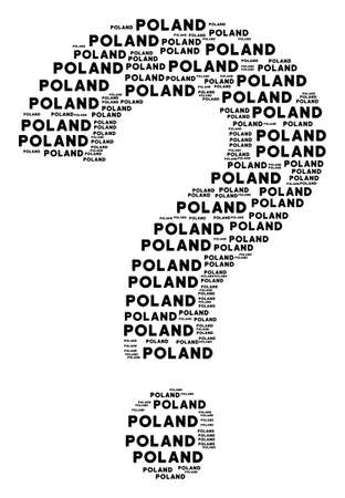 Prompt figure composed from poland text items. Vector poland texts are combined into know how illustration. 向量圖像