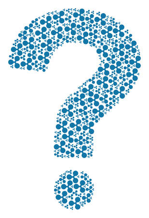 Question mark shape composed from Ripple currency pictograms. Vector Ripple currency icons are organized into know how combination.