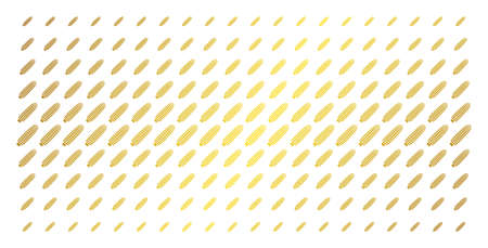 Corn icon gold colored halftone pattern. Vector corn objects are organized into halftone grid with inclined gold gradient. Constructed for backgrounds, covers, templates and abstract compositions.
