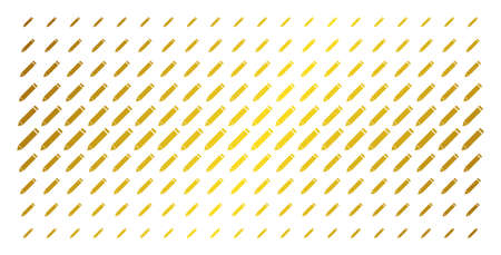 Edit pencil icon golden halftone pattern. Vector edit pencil items are arranged into halftone grid with inclined golden gradient. Designed for backgrounds, covers, templates and beautiful effects. Illustration
