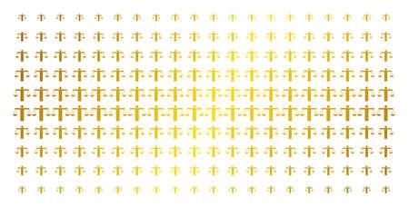 Poids comparant le motif de demi-teintes de couleur or icône personne. Le poids vectoriel comparant les objets de personne est organisé en matrice de demi-teintes avec un dégradé de couleur or incliné. Conçu pour les arrière-plans,