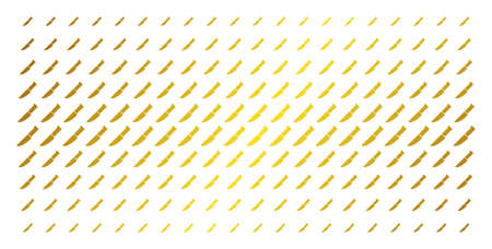 Surgery knife icon golden halftone pattern. Vector surgery knife objects are organized into halftone array with inclined gold gradient. Designed for backgrounds, covers,