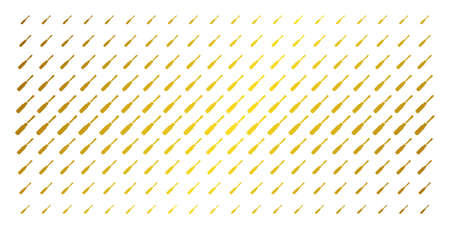 Screwdriver icon gold colored halftone pattern. Vector screwdriver items are arranged into halftone matrix with inclined gold color gradient. Constructed for backgrounds, covers, Ilustração