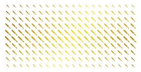 Screwdriver icon golden halftone pattern. Vector screwdriver items are organized into halftone grid with inclined golden gradient. Designed for backgrounds, covers, templates and bright compositions.