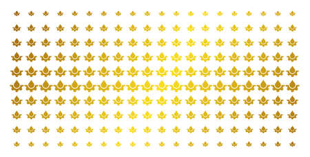 Water drop service cog icon gold halftone pattern. Vector water drop service cog pictograms are arranged into halftone grid with inclined golden gradient. Designed for backgrounds, covers, 일러스트