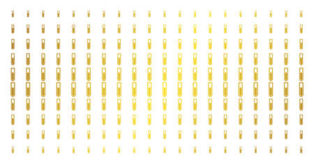 Test tube icon gold colored halftone pattern. Vector test tube items are arranged into halftone matrix with inclined gold gradient. Designed for backgrounds, covers, templates and beautiful effects. Ilustração