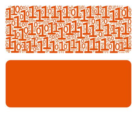 Building brick composition icon of zero and one symbols in random sizes. Vector digital symbols are combined into building brick mosaic design concept.
