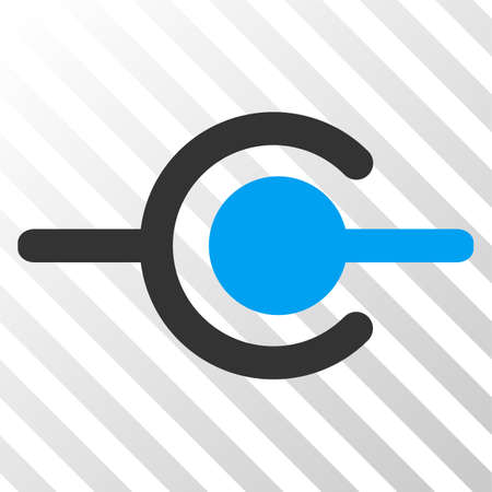 Wire connection vector icon. An illustration style is a flat iconic symbol on a hatched transparent background.