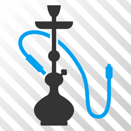 Hookah vector pictogram. An illustration style is a flat iconic symbol on a hatch transparent background. Illustration