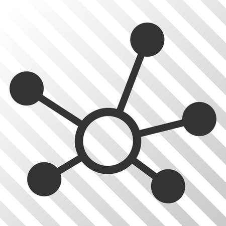 Pictograma de vector de enlaces de conexión. Un estilo de ilustración es un símbolo icónico plano sobre un fondo transparente rayado.