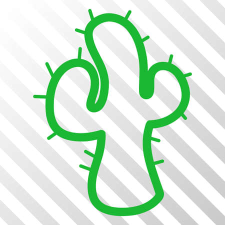 Cacti vector pictograph. An illustration style is a flat iconic symbol on a hatched transparent background.