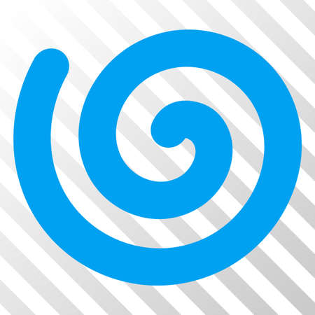 Spiral vector pictograph. An illustration style is a flat iconic symbol on a hatched transparent background.