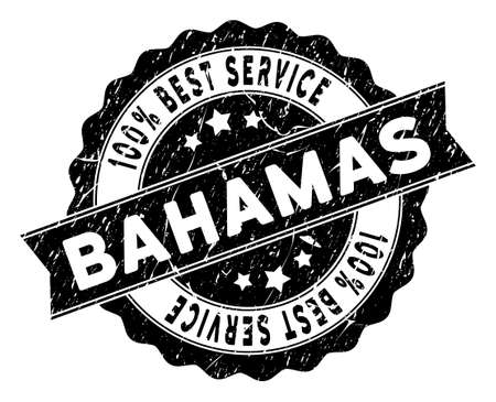 Bahamas Islands stamp with Best Quality caption. Vector black seal watermark imitation with grunge texture.