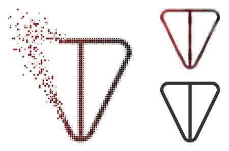 Ton currency icon in sparkle, dotted halftone and undamaged entire variants. Points are arranged into vector dissolving ton currency icon.
