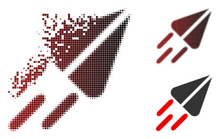 Ton currency flight icon in sparkle, pixelated halftone and undamaged whole versions. Cells are arranged into vector disappearing ton currency flight icon. Illustration