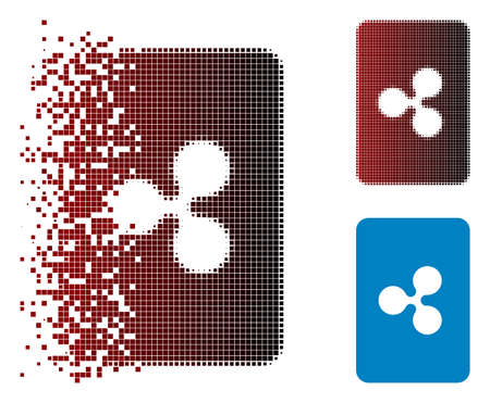 Ripple card icon in sparkle, dotted halftone and undamaged solid variants. Pieces are organized into vector sparkle Ripple card icon.  イラスト・ベクター素材
