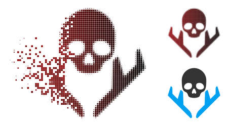 Mortal landing airplanes icon in sparkle, pixelated halftone and undamaged solid variants. Pixels are organized into vector sparkle mortal landing airplanes symbol. Imagens - 111574003