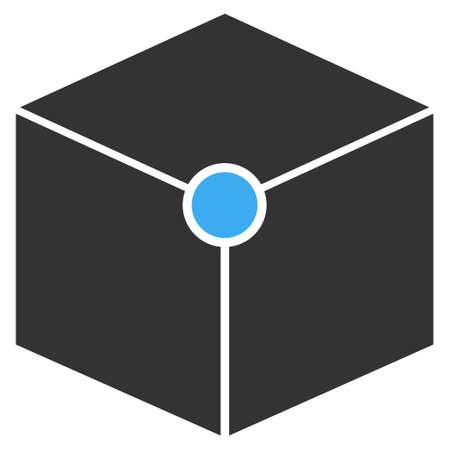 Vector cube vertex illustration. An isolated illustration on a white background. Illustration