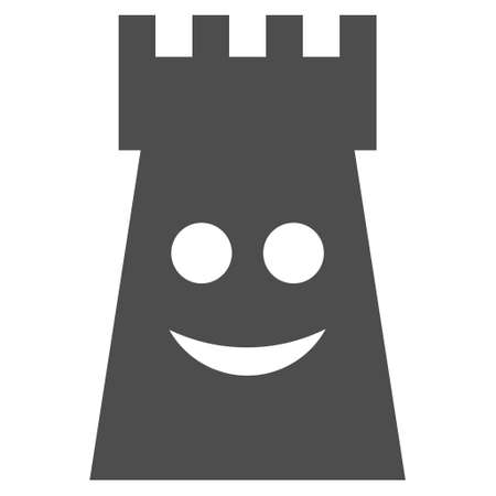 Glad fort tower vector icon. Style is flat graphic gray symbol.