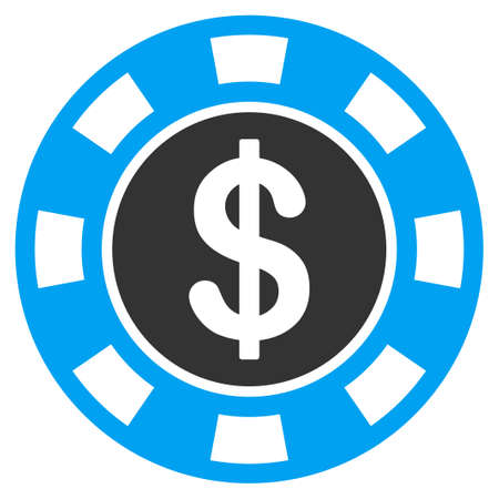 Money token flat vector icon. An isolated icon on a white background.