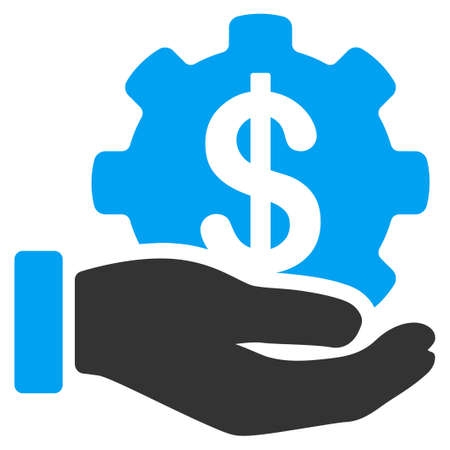 Payment options service hand flat raster icon. An isolated icon on a white background.