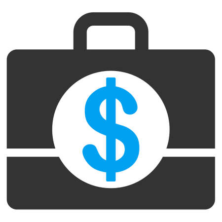 Accounting case flat vector icon. An isolated icon on a white background.