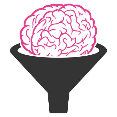 Abbildung des Raster-Gehirnfilters. Eine isolierte Illustration auf weißem Hintergrund.