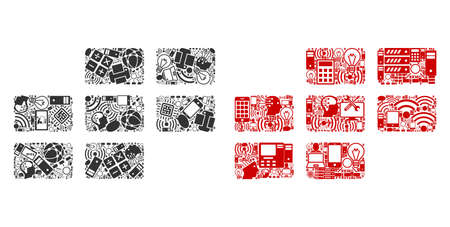 Calendar Grid composition icons combined for bigdata illustrations. Vector calendar grid mosaics are combined from computer, calculator, connections, wi-fi, network icons into abstract compositions. Illustration