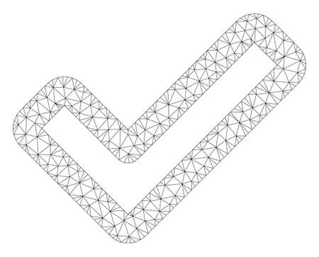 Mesh apply polygonal 2d illustration. Abstract mesh lines and dots form triangular apply. Wire frame 2D polygonal line network in vector format isolated on a white background.