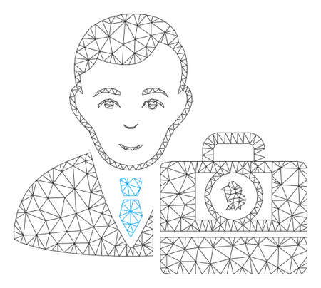 Mesh Bitcoin cash accounter model icon. Wire frame polygonal mesh of vector Bitcoin cash accounter isolated on a white background. Abstract 2d mesh built from polygonal grid and points.