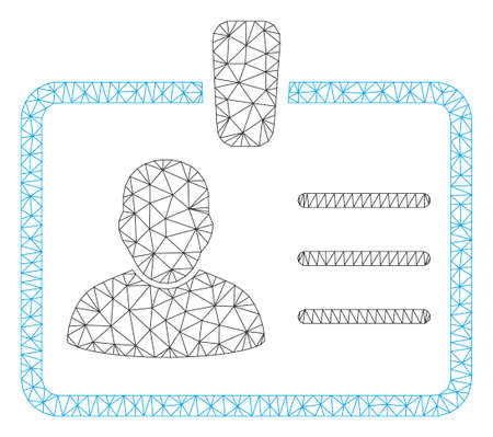 Mesh badge model icon. Wire frame polygonal mesh of vector badge isolated on a white background. Abstract 2d mesh designed with polygonal grid and points.