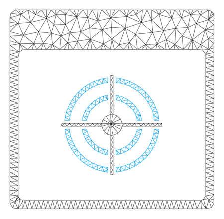 Mesh bullseye calendar page polygonal icon vector illustration. Model is based on bullseye calendar page flat icon. Triangle network forms abstract bullseye calendar page flat carcass. Banco de Imagens - 124009193