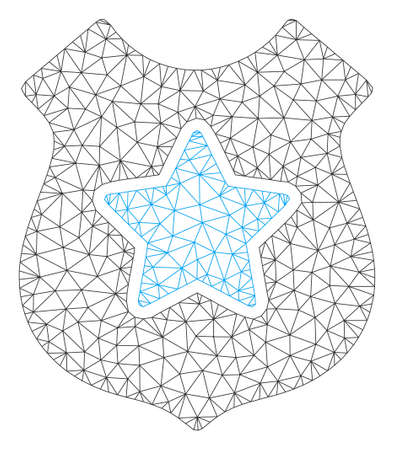 Mesh bulletproof vest polygonal 2d vector illustration. Carcass model is based on bulletproof vest flat icon. Triangle network forms abstract bulletproof vest flat carcass.