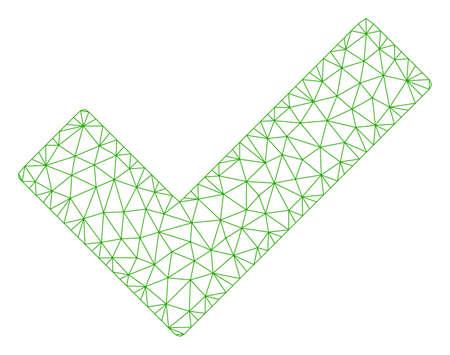 Maillage cocher cocher illustration vectorielle 2d polygonale. Le modèle est basé sur l'icône plate de coche. Le réseau triangulaire forme une carcasse plate de coche abstraite.