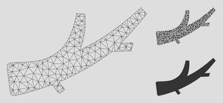 Mesh firewood model with triangle mosaic icon. Wire frame polygonal mesh of firewood. Vector mosaic of triangle parts in variable sizes, and color tones. Abstract 2d mesh firewood, Foto de archivo - 125061093