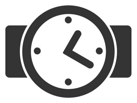 Vector watches flat icon. Vector pictogram style is a flat symbol watches icon on a white background. Ilustracja