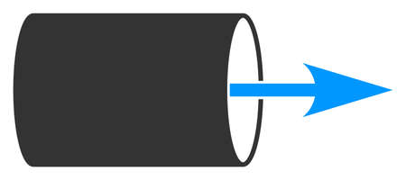 Vector pipe direction flat icon. Vector pictogram style is a flat symbol pipe direction icon on a white background.