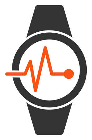 Vector pulse watches flat icon. Vector pictogram style is a flat symbol pulse watches icon on a white background.