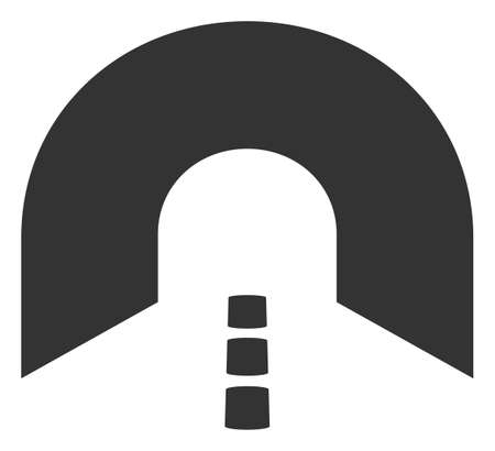 Vector tunnel flat icon. Vector pictograph style is a flat symbol tunnel icon on a white background.