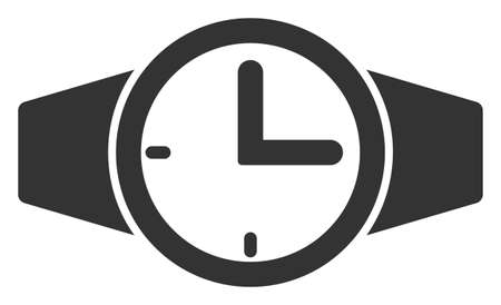 Vector watches flat icon. Vector pictograph style is a flat symbol watches icon on a white background. Zdjęcie Seryjne - 129974563