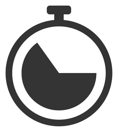 Vector stopwatch flat icon. Vector pictogram style is a flat symbol stopwatch icon on a white background.