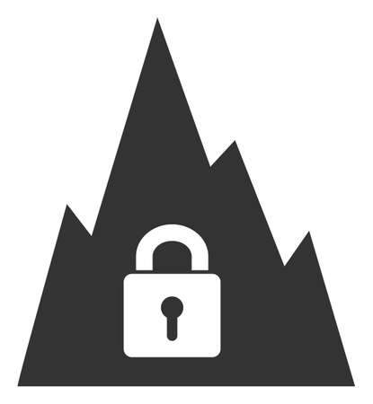 Vector locked tunnel flat icon. Vector pictograph style is a flat symbol locked tunnel icon on a white background.