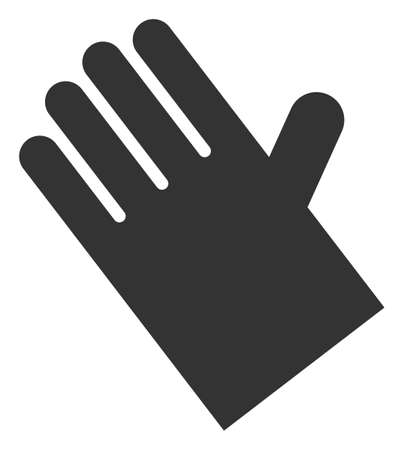 Vector rubber glove flat icon. Vector pictograph style is a flat symbol rubber glove icon on a white background.