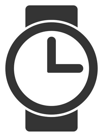 Vector watches flat icon. Vector pictograph style is a flat symbol watches icon on a white background.