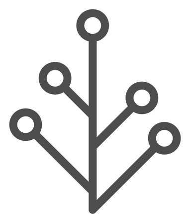 Vector plant flat icon. Vector pictogram style is a flat symbol plant icon on a white background. Stock fotó - 129974582