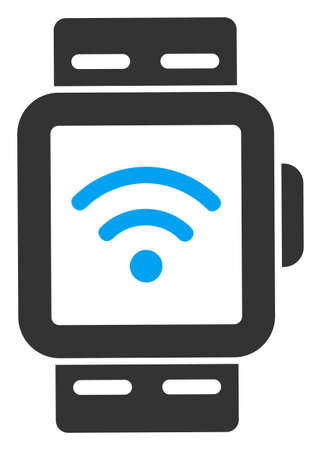 Vector wireless smart watches flat icon. Vector pictograph style is a flat symbol