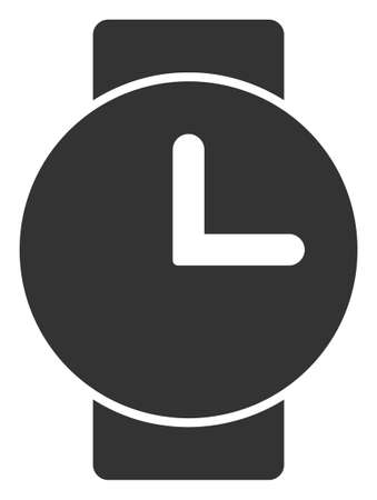Vector watches flat icon. Vector pictogram style is a flat symbol watches icon on a white background. Zdjęcie Seryjne - 129954197