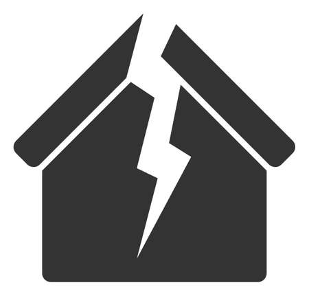 Vector housing crisis flat icon. Vector pictograph style is a flat symbol housing crisis icon on a white background. Illusztráció