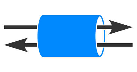 Raster VPN pipe flat icon. Raster pictogram style is a flat symbol VPN pipe icon on a white background. Stock fotó